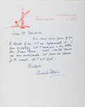 Autographs:Authors, Ursula Bloom (1892-1984, British Writer). Autograph Letter Signed.Cranmer Court: [n. d.]. Approximately 10 x 8 inches and o...