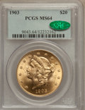 Liberty Double Eagles, 1903 $20 MS64 PCGS. CAC....