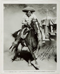 "Autographs:Celebrities, Leo Carillo (American Actor, Political Cartoonist, andConservationist, 1881-1961). Inscribed Photograph of Carillo as""Pancho..."