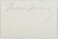 Autographs:Statesmen, Thomas E. Dewey (American Politician, Attorney, and PresidentialCandidate, 1902-1971). Clipped Signature in Pencil. [N.p.: ...