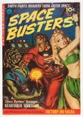 Golden Age (1938-1955):Science Fiction, Space Busters #2 (Ziff-Davis, 1952) Condition: FN/VF....