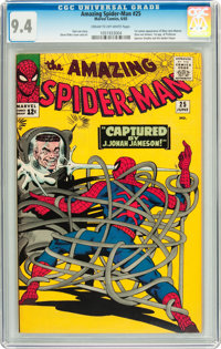 The Amazing Spider-Man #25 (Marvel, 1965) CGC NM 9.4 Cream to off-white pages