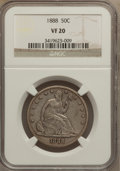 Seated Half Dollars: , 1888 50C VF20 NGC. NGC Census: (1/107). PCGS Population (2/153).Mintage: 12,000. Numismedia Wsl. Price for problem free NG...
