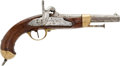 Handguns:Muzzle loading, Later Variant Of French M1822 (Date On Tang) Percussion Pistol....