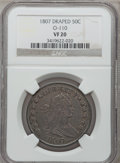 Early Half Dollars: , 1807 50C Draped Bust VF20 NGC. O-110. NGC Census: (44/1372). PCGSPopulation (106/776). Mintage: 301,076. Numismedia Wsl. ...