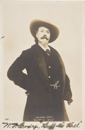 "Photography:Signed, William F. ""Buffalo Bill"" Cody Real Photo Postcard Signed ""W. F. Cody, 'Buffalo Bill'""...."