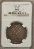 Bust Half Dollars: , 1814 50C XF40 NGC. O-105. NGC Census: (25/481). PCGS Population(64/352). Mintage: 1,039,075. Numismedia Wsl. Price for pr...
