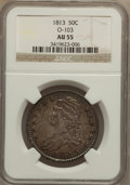 Bust Half Dollars: , 1813 50C AU55 NGC. O-103. NGC Census: (68/420). PCGS Population(66/136). Mintage: 1,241,903. Numismedia Wsl. Price for pr...