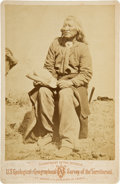 Photography:Cabinet Photos, Chief Washakie: Albumen Cabinet Photo by William Henry Jackson,Circa 1871. ...
