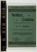 Books:Literature 1900-up, J. M. Barrie. Walker, London. London: Samuel French, 1907.First edition, first printing. Publisher's wrapper with m...