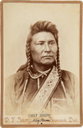 Photography:Cabinet Photos, Chief Joseph: Albumen Cabinet Photograph by D. F. Barry, Circa1877. ...