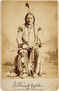 Photography:Cabinet Photos, Chief Sitting Bull: Albumen Cabinet Card by Palmquist and Jurgens,Circa 1884....