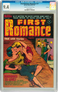 Golden Age (1938-1955):Romance, First Romance Magazine #17 File Copy (Harvey, 1952) CGC NM 9.4Cream to off-white pages....