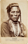 Photography:Cabinet Photos, Curley, Custer's Crow Scout: Albumen Cabinet Photograph by D. F.Barry, Circa 1885. ...