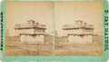 Photography:Stereo Cards, Blockhouse at Fort Lincoln, Dakota Territory: Stereoview by F. Jay Haynes, Circa 1877. ...