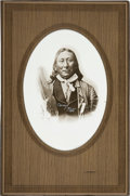 Photography:Studio Portraits, Sioux Chief Young-Man-Afraid-Of-His-Horses: Silver Gelatin Print byD. F. Barry, Circa 1884. ...