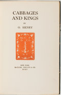 Books:Literature 1900-up, O. Henry. Cabbages and Kings. New York: McClure, Phillips,1904. First edition, first printing. Custom half leather ...