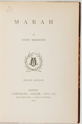 Books:Literature Pre-1900, Owen Meredith. Marah. London: Longmans, Green, 1892. Secondedition. Custom half leather with minor rubbing and scuf...