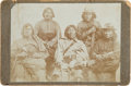 Photography:Cabinet Photos, Cabinet Photograph of Five Identified Kiowa Braves: Poor Buffalo(Haw-taudle), Short Greasy Hair (Kaun't-say...