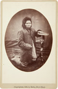 "Photography:Cabinet Photos, Nez Perce Warrior ""Steps"": Fine Cabinet Card Photograph by Bailey,Dix & Mead...."
