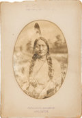 Photography:Cabinet Photos, Sioux Chief Sitting Bull: Classic Portrait by Photographer D. F.Barry....