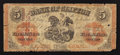 Canadian Currency: , Redeemable in Chicago/Chadwick & Co. Overprint - Clifton, PC-Bank of Clifton $5 Sep. 1, 1861 Charlton 125-12-18. ...