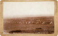 Photography:Cabinet Photos, Camp of the 7th Cavalry, Pine Ridge Agency, Jan. 19th, 1891:William R. Cross Cabinet Card Photograph....