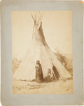 Photography:Cabinet Photos, Nez Perce Camp on the Yellowstone River, Circa 1871....