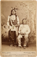 Photography:Cabinet Photos, Sioux Chiefs Running Bear and Crow Man: Cabinet Card by J. N.Templeman. ...