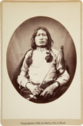 Photography:Cabinet Photos, Sioux Warrior One Bull: Extremely Fine Cabinet Card Photograph byBailey, Dix & Mead....