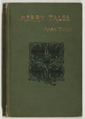 Books:Literature Pre-1900, Mark Twain. Merry Tales. New York: Webster, 1892. Firstedition, first printing. Publisher's binding with minor rubb...