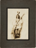 Photography:Cabinet Photos, Lakota War Chief Rain-In-The-Face: A Fine Nineteenth Century D. F.Barry Photograph....