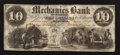 Obsoletes By State:Tennessee, Memphis, TN- Mechanics Bank $10 June 1, 1854. ...