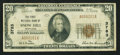 National Bank Notes:Maryland, Snow Hill, MD - $20 1929 Ty. 1 The First NB Ch. # 3783. ...