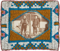"""Photograph of William F. """"Buffalo Bill"""" Cody and His Crony Frank Powell at Cody's Ranch in Wyoming, Circa 1903..."""