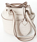 Heritage Vintage: Alaia Embossed White Crocodile Pouch Bag