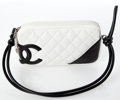 Luxury Accessories:Bags, Heritage Vintage: Chanel White and Black Cambon QuiltedLambskin Leather Bag. ...
