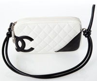 Heritage Vintage: Chanel White and Black Cambon Quilted Lambskin Leather Bag