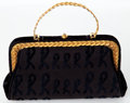 Luxury Accessories:Bags, Heritage Vintage: Roberta di Camerino Black Bag with GoldTrim. ...