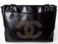 Luxury Accessories:Bags, Heritage Vintage: Chanel Black Lambskin Leather CC Tote Bag....
