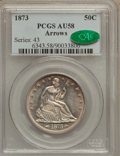 Seated Half Dollars: , 1873 50C Arrows AU58 PCGS. CAC. PCGS Population (24/108). NGCCensus: (38/128). Mintage: 1,815,700. Numismedia Wsl. Price f...