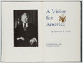 Books:Americana & American History, Gerald R. Ford. SIGNED/LIMITED. A Vision for America.Northridge: Lord John, 1980. First edition, one of 500 c...