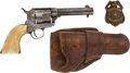 Handguns:Single Action Revolver, Colt Single Action Attributed to a Texas Marshal. ...