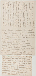Autographs:Authors, Edwina Stanton Babcock (1875-?, American Writer and Poet). TwoAutograph Letters Signed, including: Nantucket: July 3rd, 191...
