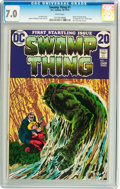 Bronze Age (1970-1979):Horror, Swamp Thing #1 (DC, 1972) CGC FN/VF 7.0 White pages....