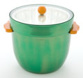 Decorative Arts, American, A NEOCRAFT EVERLAST METAL, GLASS AND BAKELITE COVERED ICE BUCKET .Neocraft Everlast Metal Co., American, circa 1935. Marks:...(Total: 2 Items)