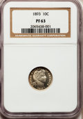 Proof Barber Dimes: , 1893 10C PR63 NGC. NGC Census: (26/159). PCGS Population (23/117).Mintage: 792. Numismedia Wsl. Price for problem free NGC...