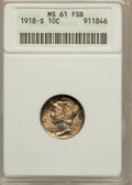 Mercury Dimes: , 1918-S 10C MS61 Full Bands ANACS. NGC Census: (1/55). PCGSPopulation (0/129). Mintage: 19,300,000. Numismedia Wsl. Price f...