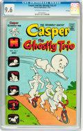 Bronze Age (1970-1979):Cartoon Character, Casper and the Ghostly Trio #7 File Copy (Harvey, 1973) CGC NM+ 9.6Off-white to white pages....