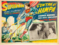 Memorabilia:Poster, Superman in Scotland Yard Spanish-Language Lobby Card(1954). . ...